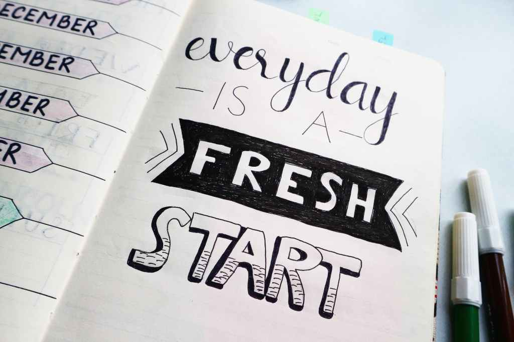 Fresh start every day. The picture does have a refreshing appeal to it. I enjoy looking at it, more than the others.